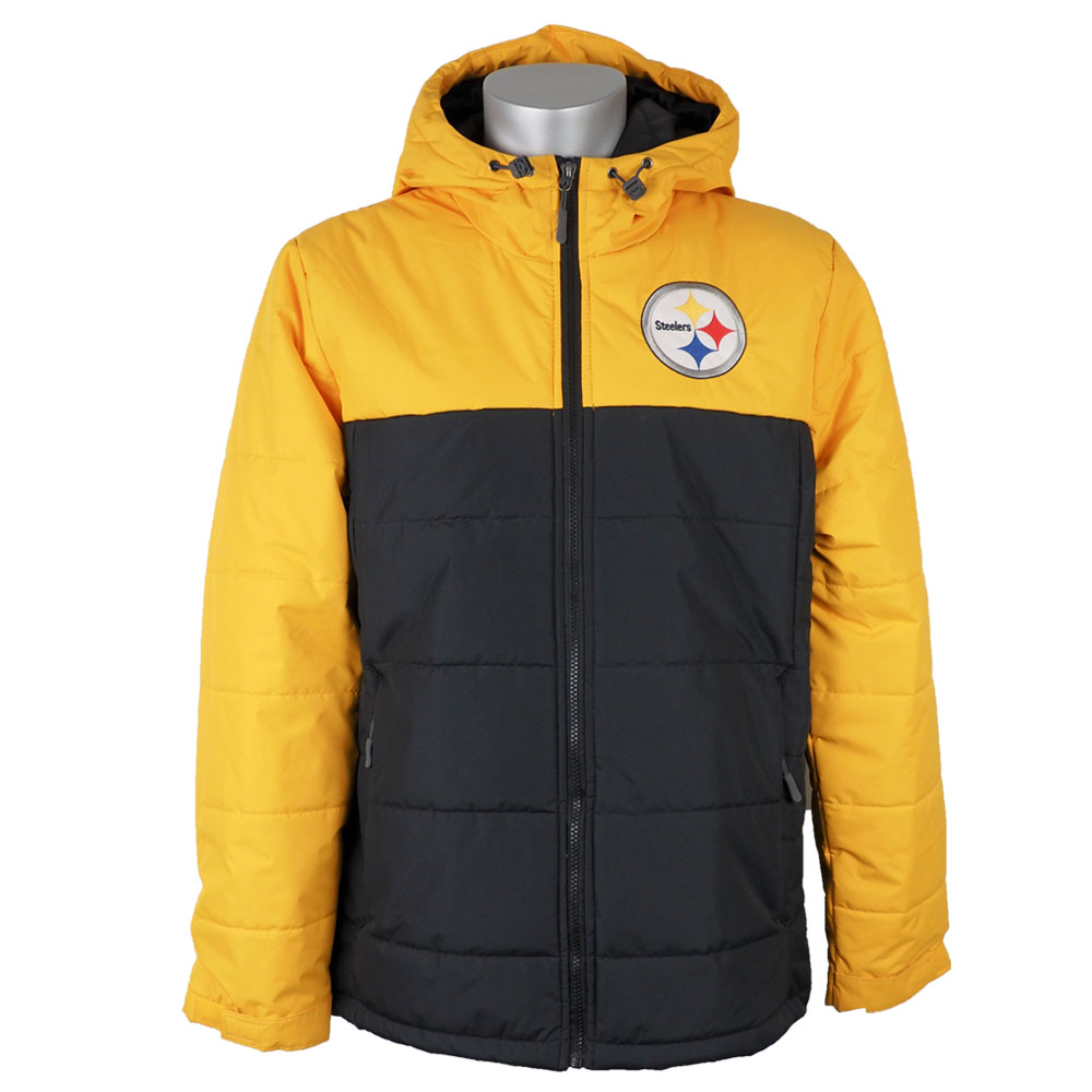 on sale 5efd7 d3931 NFL Steelers jacket / outer hooded parka polyPhil men's G three /G-III