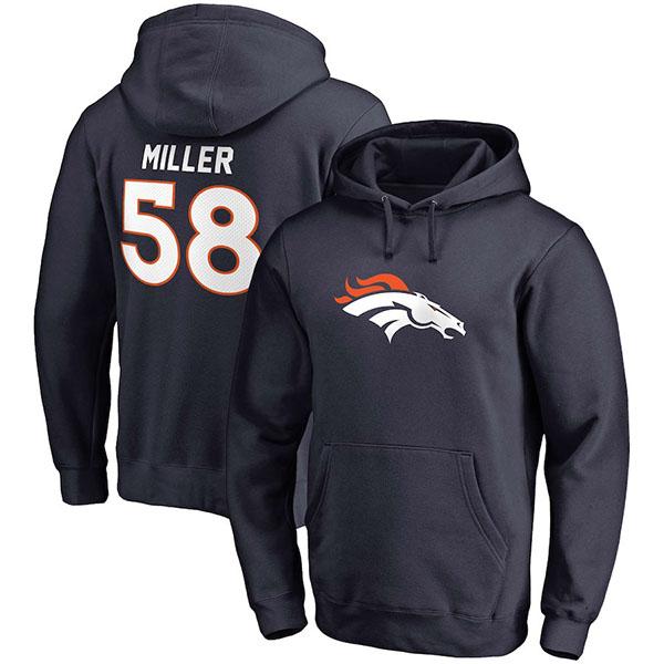 【返品交換不可】 お取り寄せ NFL お取り寄せ ブロンコス ブロンコス ボン・ミラー パーカー ネイビーMIL/フーディー チームアイコン ネイビーMIL, 園部町:4e8da12d --- hortafacil.dominiotemporario.com