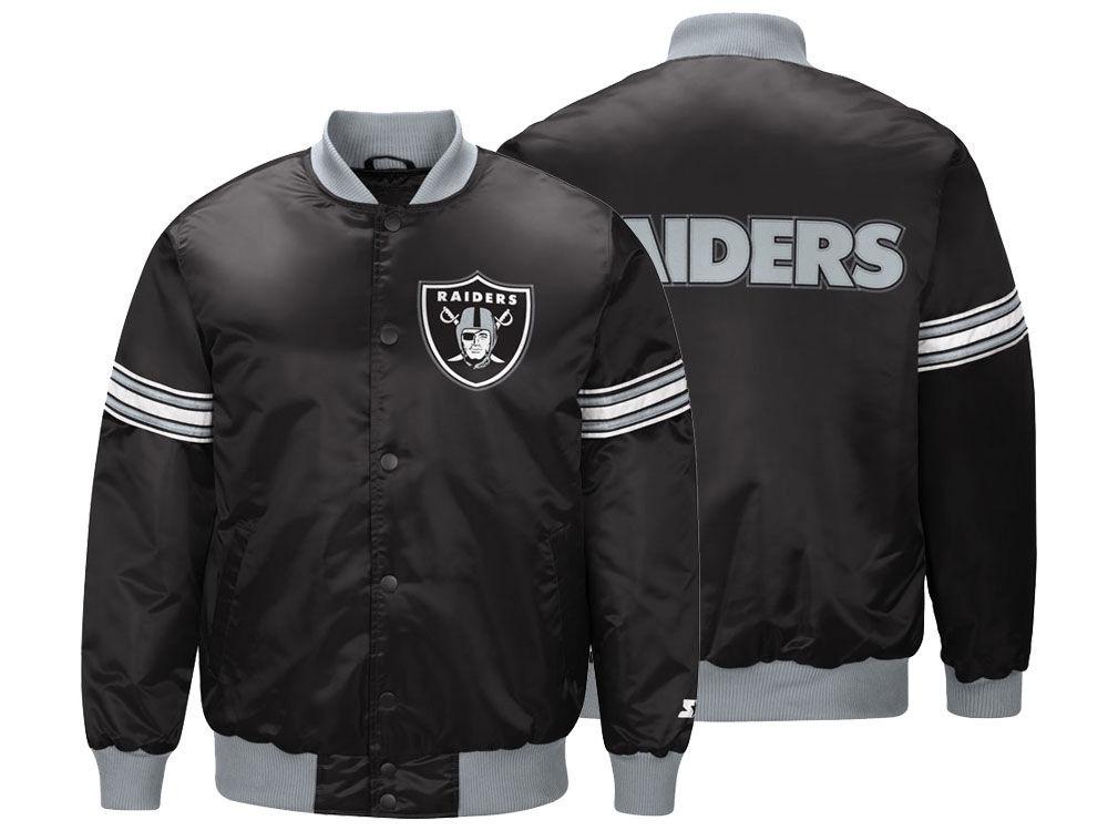 NFL レイダース ジャケット/アウター サテン バーシティ スタジャン メンズ スターター/Starter