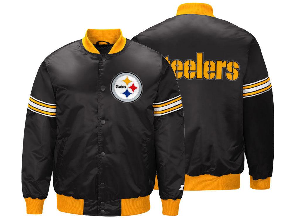 los angeles b6249 bed62 NFL Steelers jacket / outer satin bar city award jacket men starter /Starter