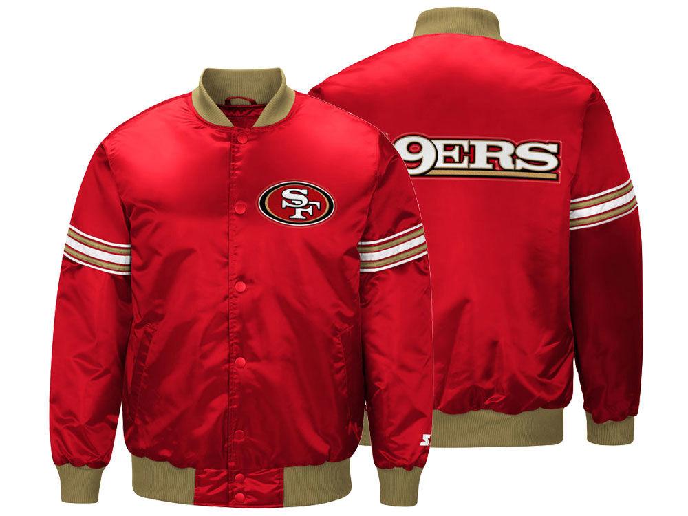 贅沢屋の NFL 49ers ジャケット/アウター サテン 49ers バーシティ スタジャン スタジャン メンズ スターター バーシティ/Starter, タブレットPCケース MOBILE STUDIO:37283bf2 --- construart30.dominiotemporario.com