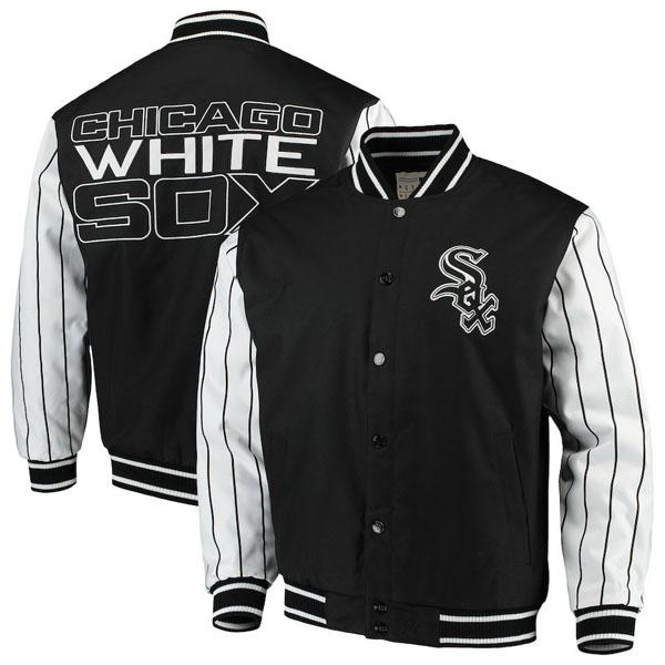 お取り寄せ MLB ホワイトソックス ジャケット/アウター キルテッドニット ジャージ ライン JHデザイン/JH Design ブラック