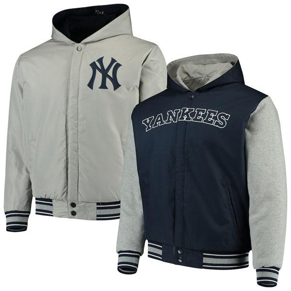 お取り寄せ MLB ヤンキース ジャケット/アウター リバーシブル ツイル メンズ JHデザイン/JH Design
