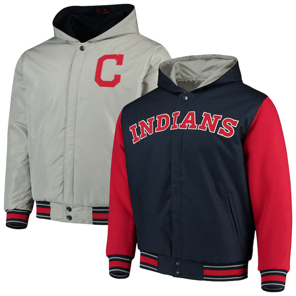 お取り寄せ MLB インディアンス ジャケット/アウター リバーシブル ツイル メンズ JHデザイン/JH Design