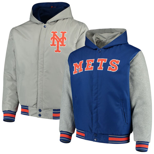 お取り寄せ MLB メッツ ジャケット/アウター リバーシブル ツイル メンズ JHデザイン/JH Design
