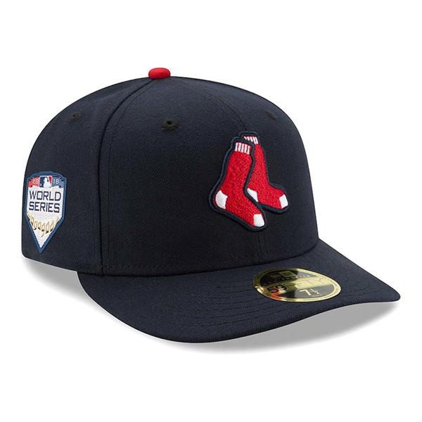 お取り寄せ MLB レッドソックス キャップ/帽子 2018 ワールドシリーズ進出記念 サイドパッチ ロークラウン 59FIFTY オルタネート
