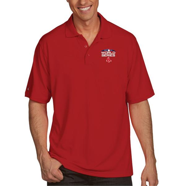 お取り寄せ MLB レッドソックス 2018 ワールドシリーズ進出記念 ポロシャツ Antigua レッド