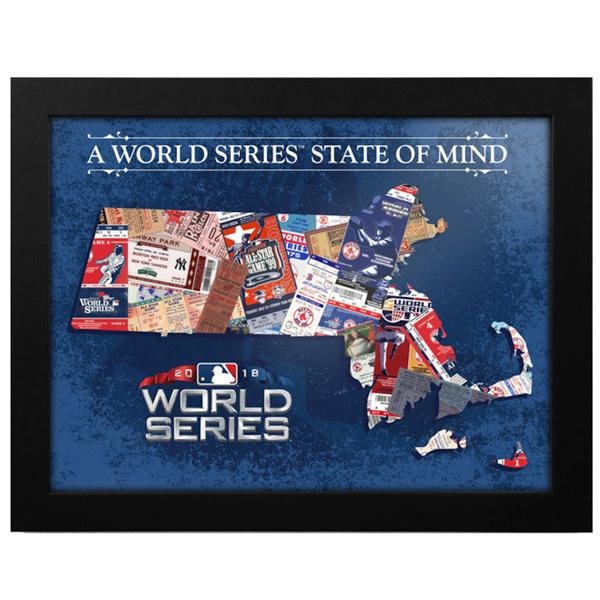 お取り寄せ MLB レッドソックス 2018 ワールドシリーズ進出記念 フレームド プリント