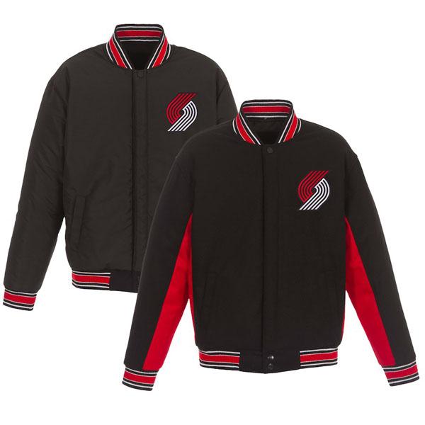 お取り寄せ NBA トレイルブレイザーズ ジャケット/アウター リバーシブル ウール ポリツイル メンズ JHデザイン/JH Design