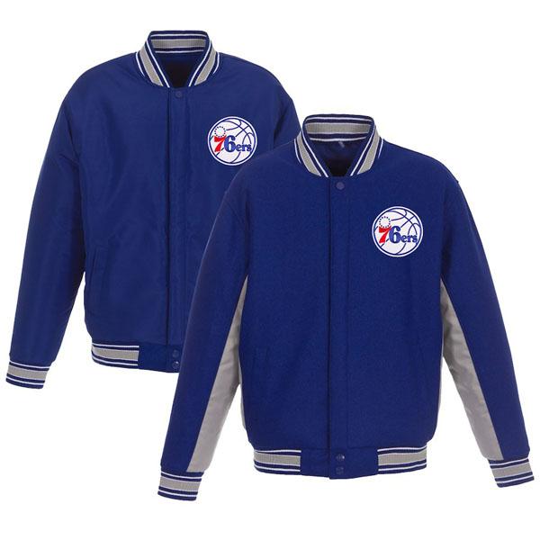 お取り寄せ NBA 76ers ジャケット/アウター リバーシブル ウール ポリツイル メンズ JHデザイン/JH Design