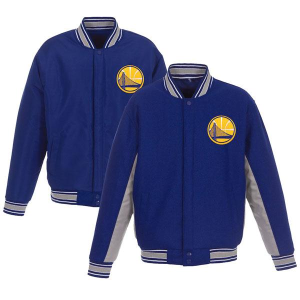 お取り寄せ NBA ウォリアーズ ジャケット/アウター リバーシブル ウール ポリツイル メンズ JHデザイン/JH Design