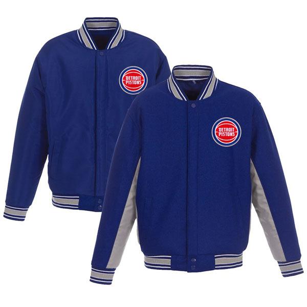 お取り寄せ NBA ピストンズ ジャケット/アウター リバーシブル ウール ポリツイル メンズ JHデザイン/JH Design