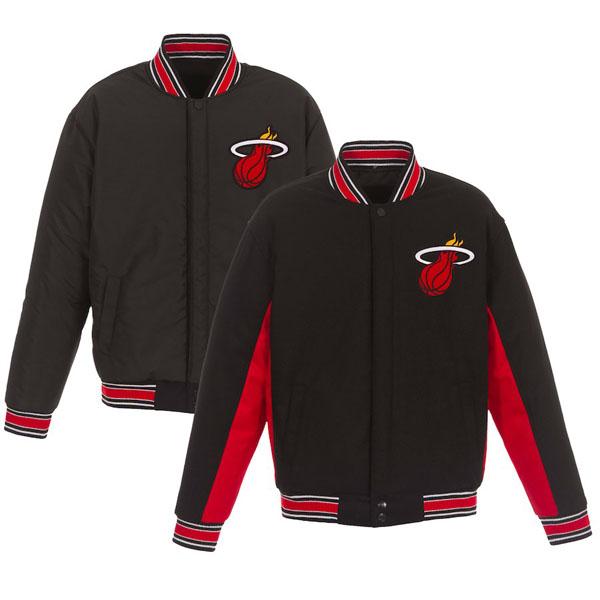 お取り寄せ NBA ヒート ジャケット/アウター リバーシブル ウール ポリツイル メンズ JHデザイン/JH Design