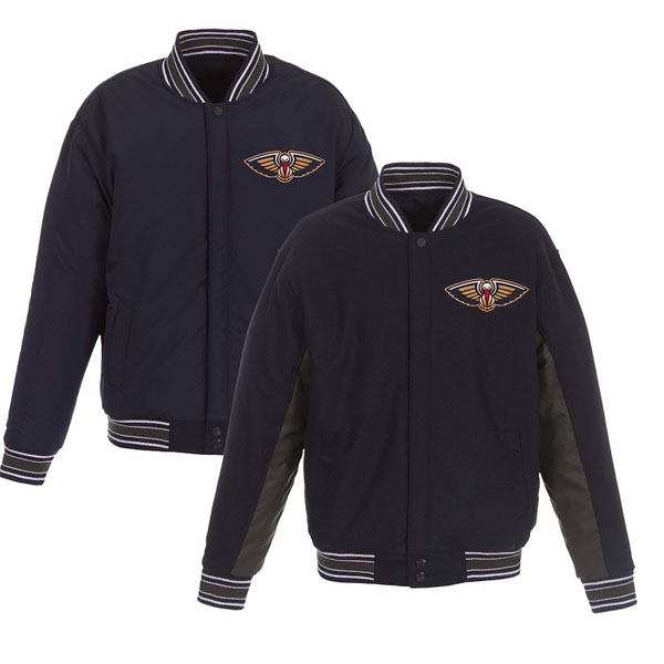 お取り寄せ NBA ペリカンズ ジャケット/アウター リバーシブル ウール ポリツイル メンズ JHデザイン/JH Design