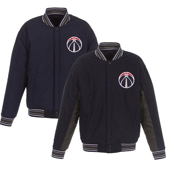 お取り寄せ NBA ウィザーズ ジャケット/アウター リバーシブル ウール ポリツイル メンズ JHデザイン/JH Design
