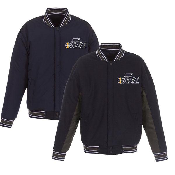お取り寄せ NBA ジャズ ジャケット/アウター リバーシブル ウール ポリツイル メンズ JHデザイン/JH Design