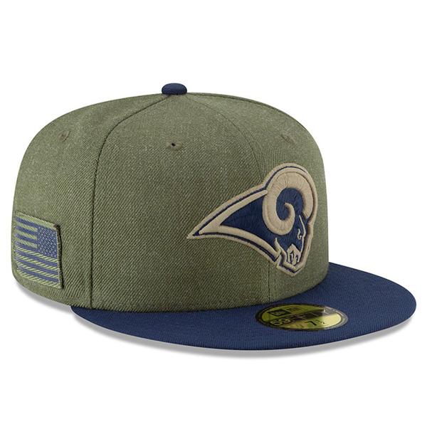 お取り寄せ NFL ラムズ キャップ/帽子 2018 Salute To Service 59FIFTY フィッテッド ニューエラ/New Era, QS GATE(キューズゲート):28862281 --- fvf.jp