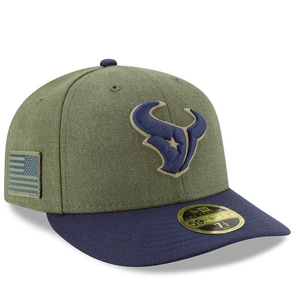 お取り寄せ NFL テキサンズ キャップ/帽子 2018 Salute To Service 59FIFTY フィッテッド ロークラウン ニューエラ/New Era