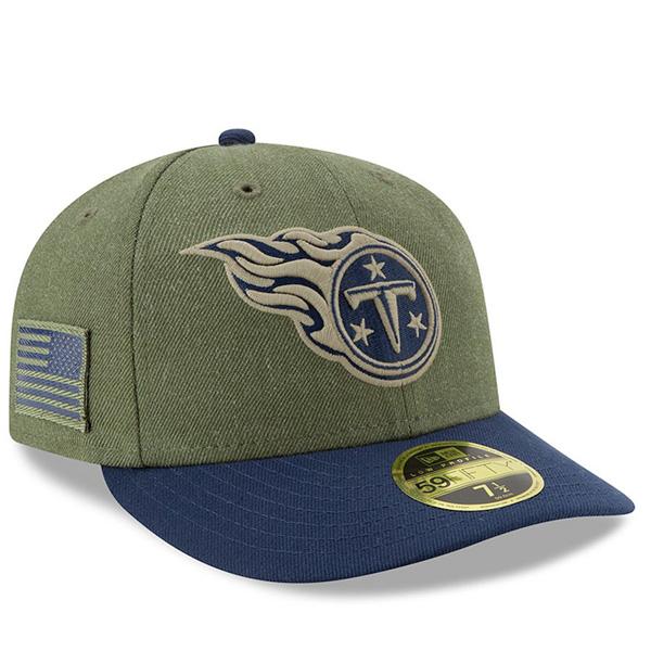 お取り寄せ NFL タイタンズ キャップ/帽子 2018 Salute To Service 59FIFTY フィッテッド ロークラウン ニューエラ/New Era