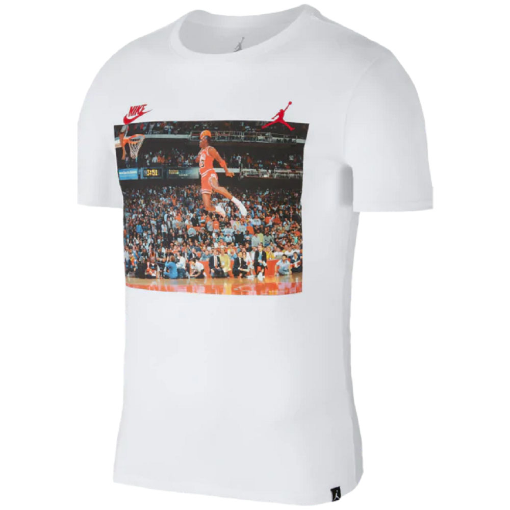 ナイキ ジョーダン/NIKE JORDAN Tシャツ ダンク ジャンプマン ホワイト AJ1406-100 レアアイテム レアアイテム