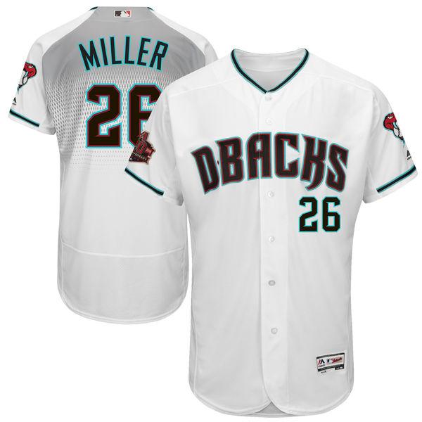 お取り寄せ MLB ダイヤモンドバックス シェルビー・ミラー 20周年記念 パッチ付き オーセンティック ユニフォーム マジェスティック/Majestic ホームオルタ