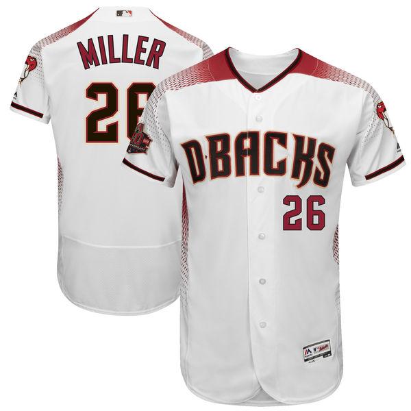 お取り寄せ MLB ダイヤモンドバックス シェルビー・ミラー 20周年記念 パッチ付き オーセンティック ユニフォーム マジェスティック/Majestic ホーム