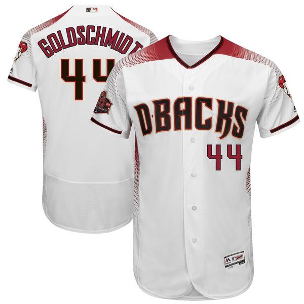 お取り寄せ MLB ダイヤモンドバックス ポール・ゴールドシュミット 20周年記念 パッチ付き オーセンティック ユニフォーム マジェスティック/Majestic ホーム