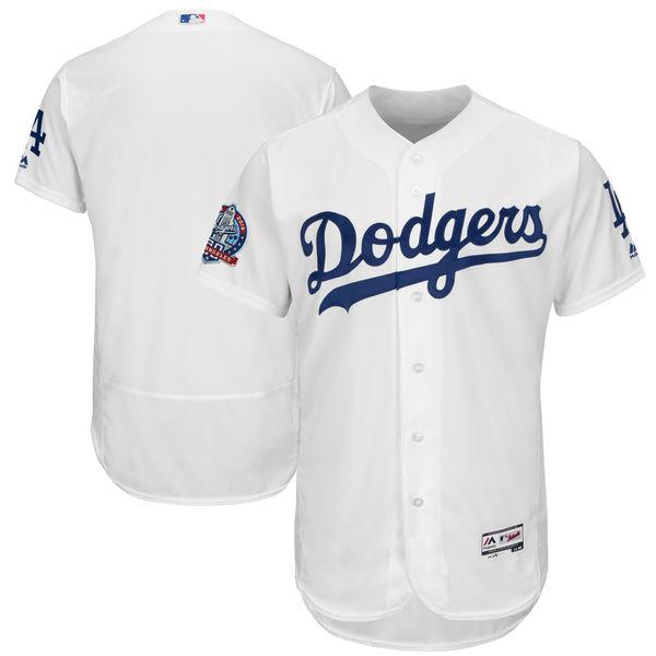 お取り寄せ MLB ドジャース 60周年記念 パッチ付き オーセンティック ユニフォーム マジェスティック/Majestic ホーム