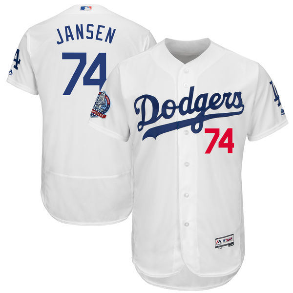 お取り寄せ MLB ドジャース ケンリー・ジャンセン 60周年記念 パッチ付き オーセンティック ユニフォーム マジェスティック/Majestic ホーム