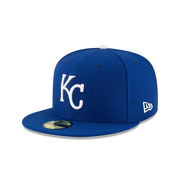 お取り寄せ MLB ロイヤルズ 50周年記念 オーセンティック 59FIFTY キャップ/帽子 ニューエラ/New Era ロイヤル