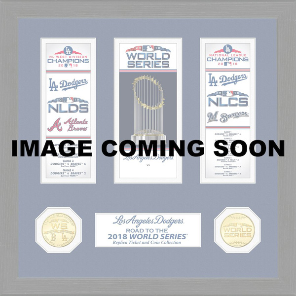 お取り寄せ MLB ドジャース 2018 ナ・リーグ優勝記念 チケットコレクション The Highland Mint