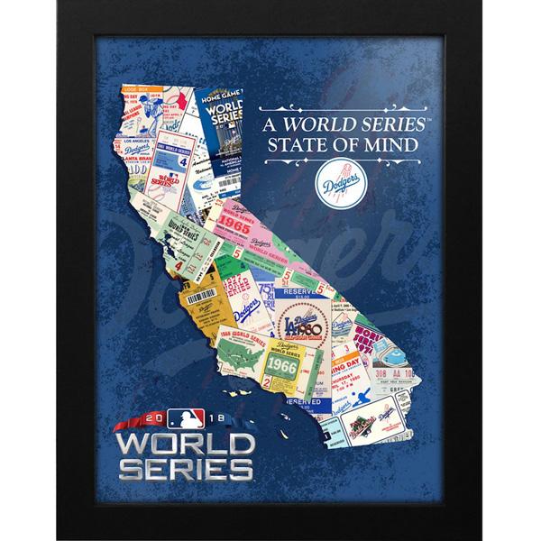 お取り寄せ MLB ドジャース 2018 ワールドシリーズ進出記念 マインド フレーム プリント
