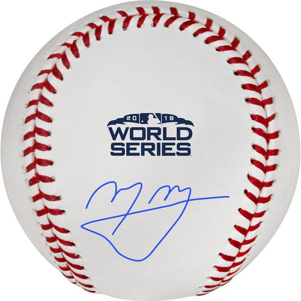 お取り寄せ MLB ドジャース マニー・マチャド 2018 ワールドシリーズ ロゴ サインボール