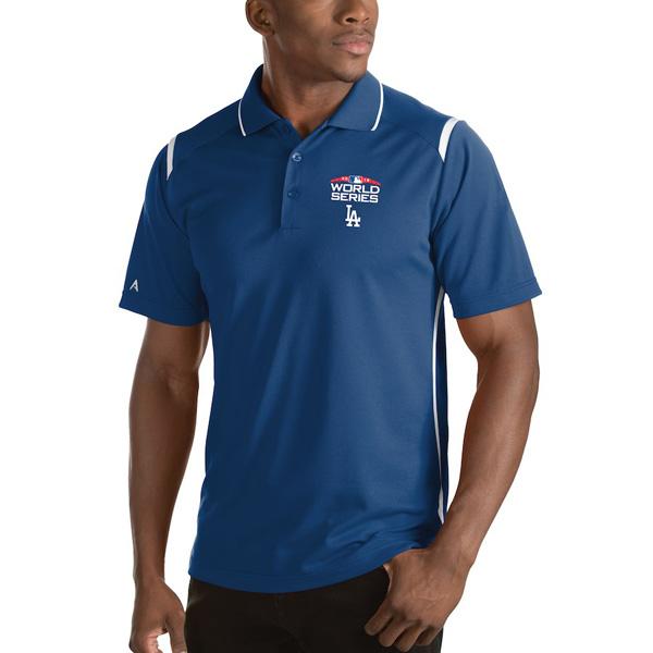 お取り寄せ MLB ドジャース ポロシャツ 2018 ワールドシリーズ進出記念 Merit Antigua ロイヤル