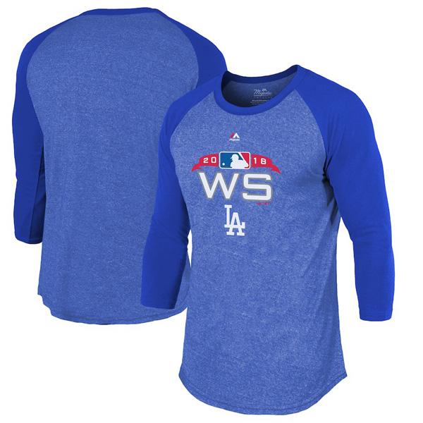 お取り寄せ MLB ドジャース Tシャツ 2018 ワールドシリーズ進出記念 オーセンティック マジェスティック/Majestic ロイヤル