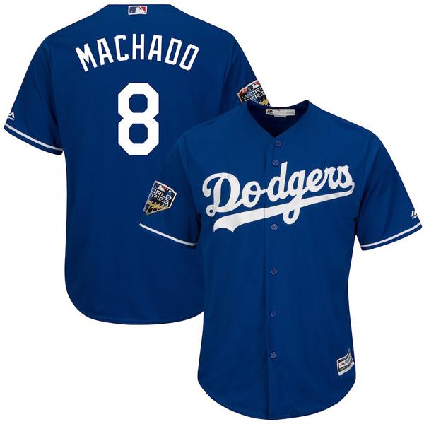 お取り寄せ MLB ドジャース マニー・マチャド ユニフォーム/ジャージ 2018 ワールドシリーズ 進出記念 クールベース ロイヤル