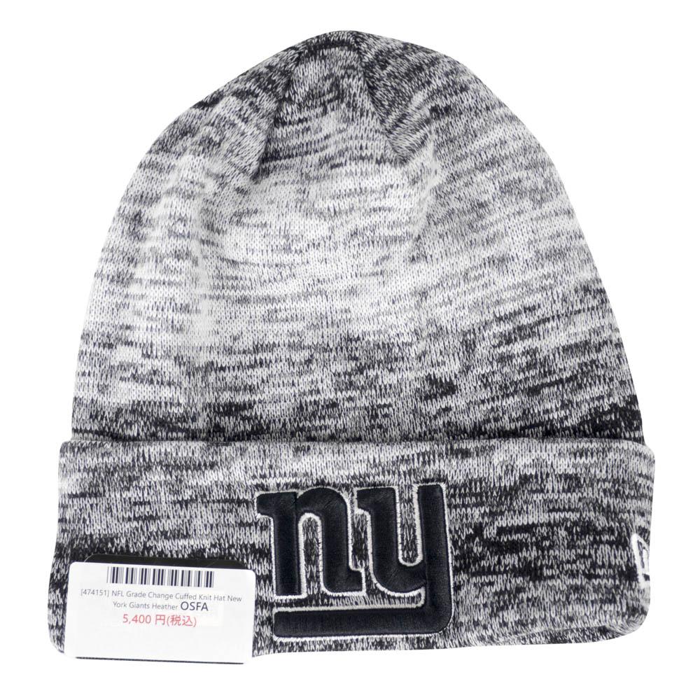 d287ff915be NFL Giants knit cap   knit hat グレードチェンジカフドニットニューエラ  New Era gray rare item