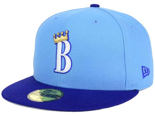 お取り寄せ お取り寄せ お取り寄せ MiLB/マイナーリーグ バーリントン・ロイヤルズ キャップ/帽子 オーセンティック 59FIFTY ニューエラ/New Era