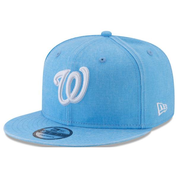 ナショナルズ キャップ ニューエラ NEW ERA MLB パステルカラー ネオンタイム スナップバック ブルー【1911セール】