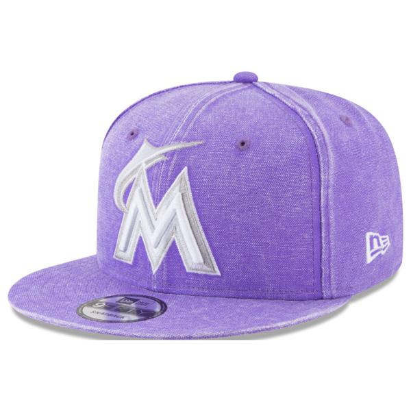 マーリンズ キャップ ニューエラ NEW ERA MLB パステルカラー ネオンタイム スナップバック パープル【1910価格変更】【191028変更】