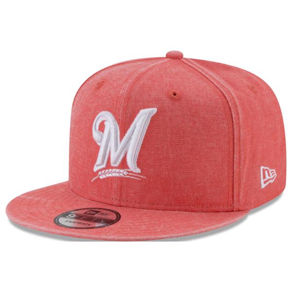 ブリュワーズ キャップ ニューエラ NEW ERA MLB パステルカラー ネオンタイム スナップバック オレンジ【1910価格変更】【191028変更】