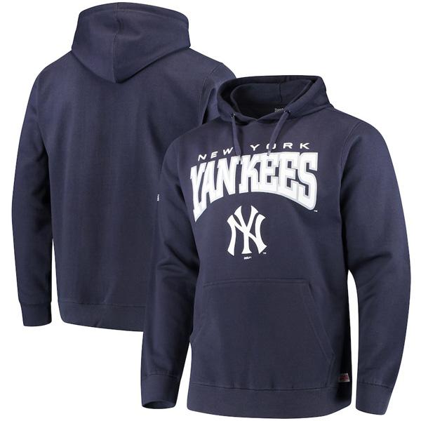 お取り寄せ MLB ヤンキース パーカー/フーディー チーム プルオーバー メンズ Stitches ネイビー