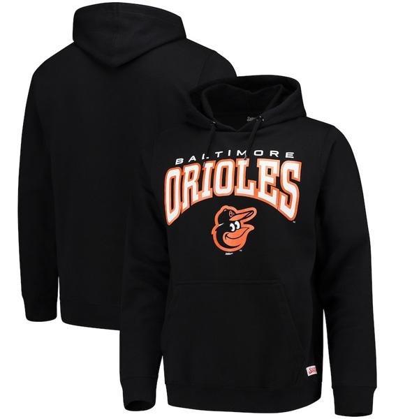 お取り寄せ MLB オリオールズ パーカー/フーディー チーム プルオーバー メンズ Stitches ブラック