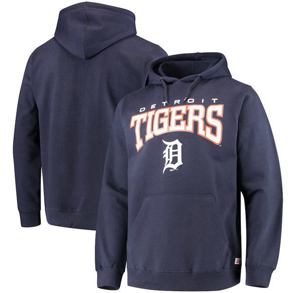 お取り寄せ MLB タイガース パーカー/フーディー チーム プルオーバー メンズ Stitches ネイビー