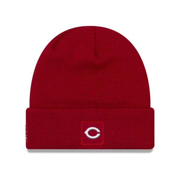 レッズ キャップ ニューエラ NEW ERA MLB ニットキャップ ニット帽 選手着用モデル 2018 レッド【1910価格変更】【191028変更】