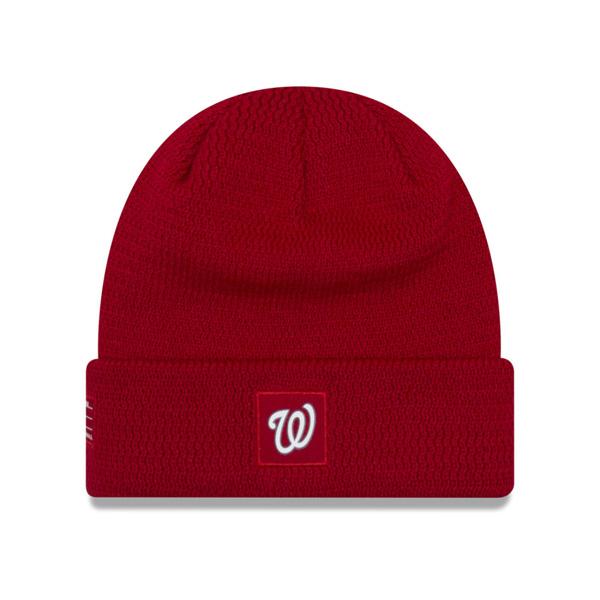 ナショナルズ キャップ ニューエラ NEW ERA MLB ニットキャップ ニット帽 選手着用モデル 2018 レッド【1910価格変更】【191028変更】