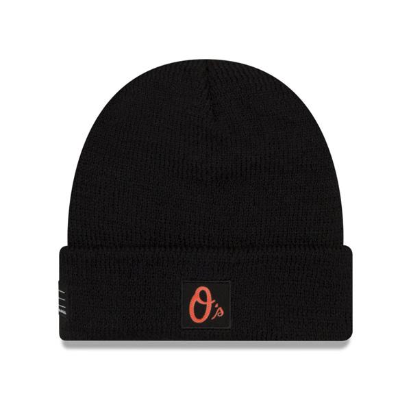 オリオールズ キャップ ニューエラ NEW ERA MLB ニットキャップ ニット帽 選手着用モデル 2018 ブラック【1910価格変更】【191028変更】