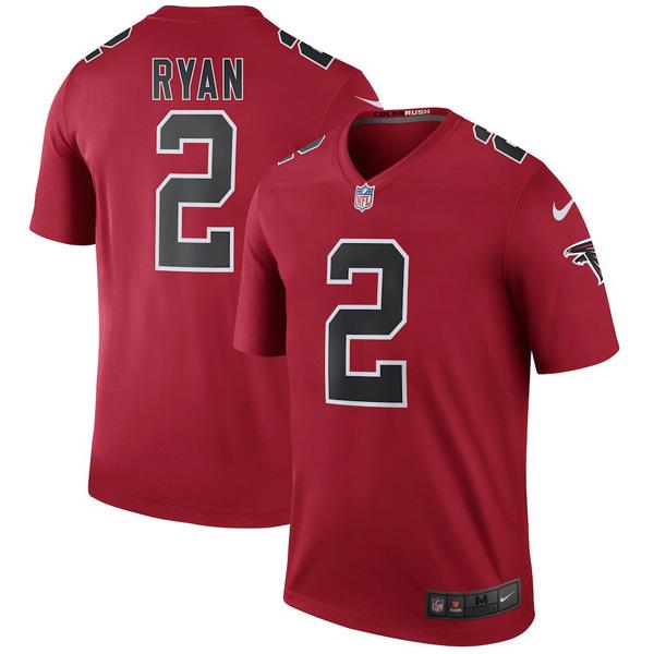 お取り寄せ NFL ファルコンズ マット・ライアン ユニフォーム/ジャージ カラーラッシュ レジェンド ナイキ/Nike レッド