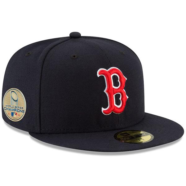 お取り寄せ MLB レッドソックス キャップ/帽子 2018 ワールドチャンピオン記念 サイドパッチ ニューエラ/New Era ネイビー