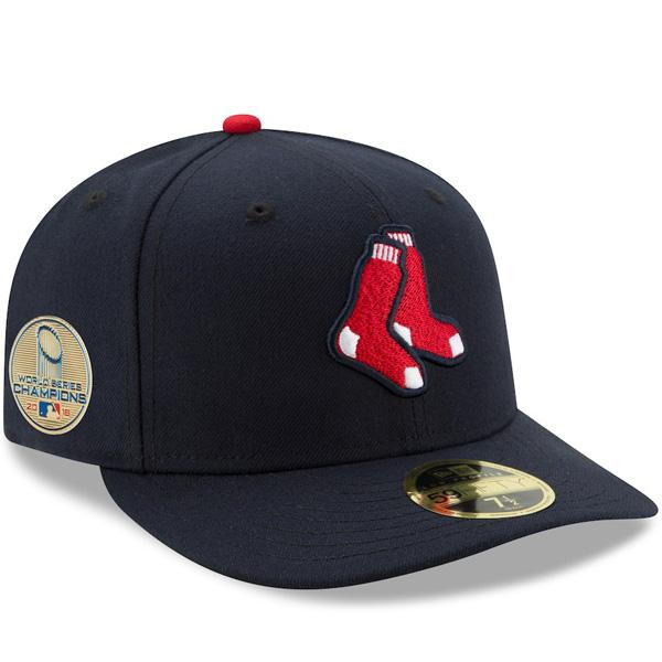 お取り寄せ MLB レッドソックス キャップ/帽子 2018 ワールドチャンピオン記念 サイドパッチ ロープロファイル オルタネート